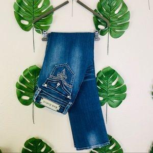 Rock Revival Jasmine Straight Thick Stitch Jeans
